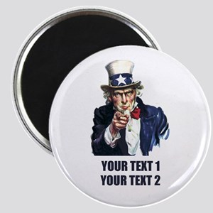 [Your text] Uncle Sam Magnet